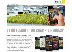 Ricola Farmer: le jeu pour iPhone.