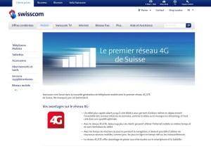 Swisscom propose le réseau 4G / LTE le plus vaste de Suisse.
