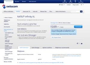 Natel Infinity XL de Swisscom encore plus rapide.