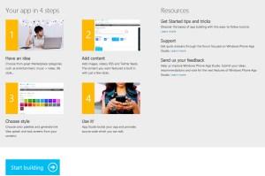 App Studio pour développer facilement ses applications Windows Phone.