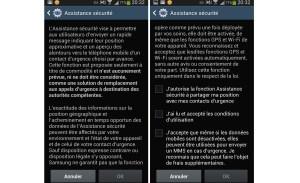 Mise en marche de l'assistant sécurité du Samsung Galaxy S4.