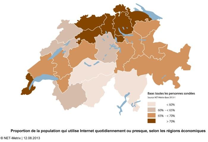 Toutes les régions de Suisse ne sont pas forcément aussi enclines à surfer de manière inconsidérée...