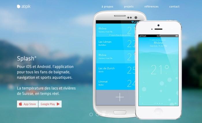 Splash: la température en temps réel des lacs et cours d'eau de Suisse.