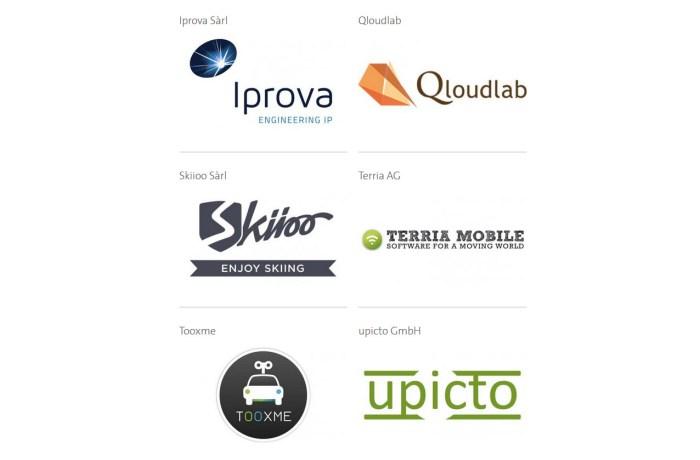 Les lauréats du Swisscom StartUp Challenge.