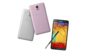 Le Samsung Galaxy Note 3 et son dos aspect cuir.