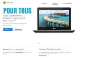 Les Chromebook enfin officiellement en Suisse.
