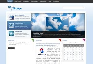 Le site de DL Groupe.