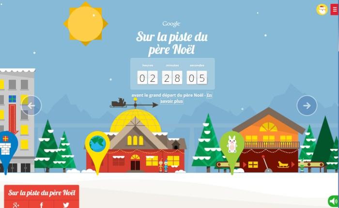 Comme Microsoft, Google traque le Père Noël dans tous ses déplacements!