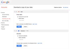 Takeout s'enrichit de Gmail.