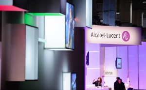 Le stand du Groupe Alcatel-Lucent au Mobile World Congress de Barcelone.