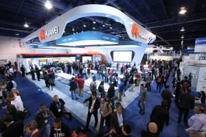 Le stand de Huawei au CES de Las Vegas.