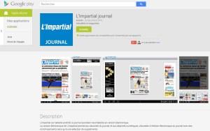 L'application de «L'Impartial»
