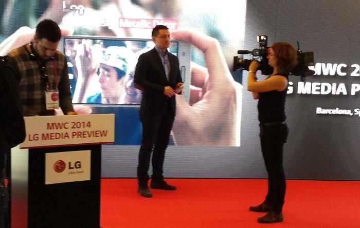 LG introduit le Knock Code au MWC 2014 de Barcelone.