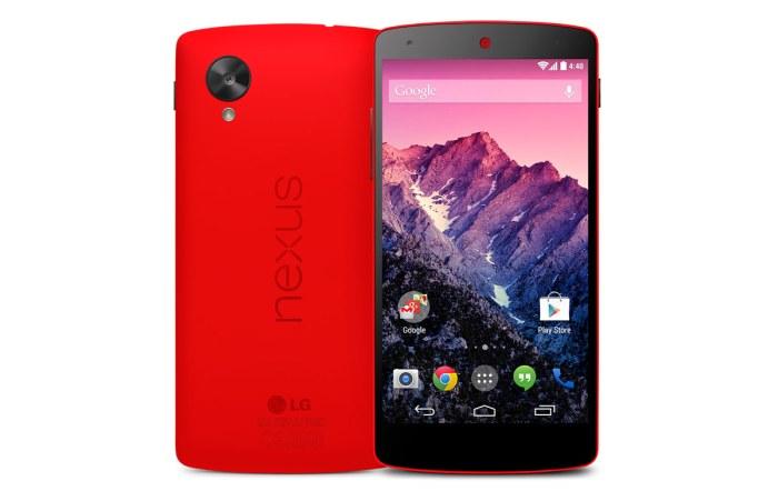 Le LG Nexus 5 en rouge.