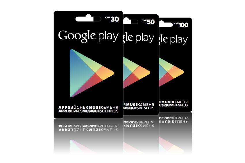 Les bons pour le Google Play Store arrivent enfin en Suisse dans les magasins.