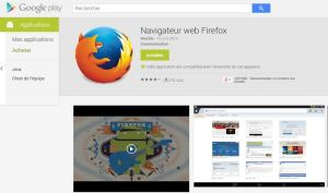 Firefox pour Android.