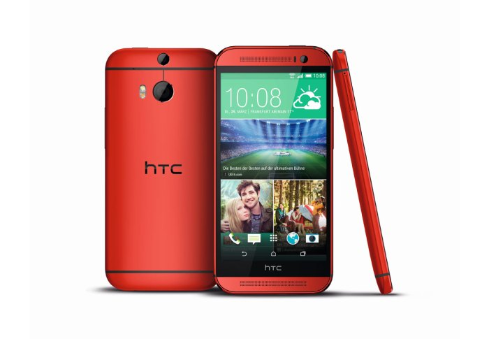 Le HTC One M8 rouge.