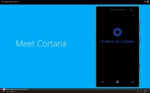 Cortana pour Windows 8.1 de Microsoft.