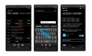 Windows Phone 8.1 ou Lumia Cyan pour les Nokia de Microsoft.