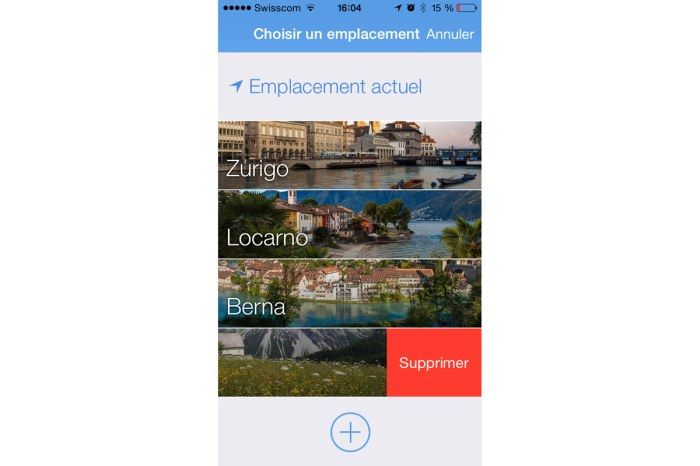 L'application Local.ch.