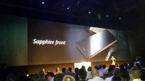 L'Ascend P7 Sapphire possède un dos en céramique.