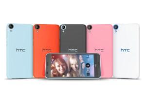 Le moyen de gamme HTC Desire 810, équipé dun processeur 64 bits.