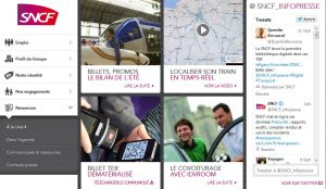 LA SNCF veut se construire une image moderne.