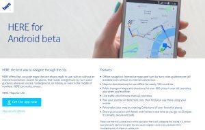 Nokia Here beta sur tous les Android.