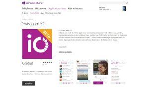 Swisscom iO sur Windows Phone. Swisscom TV enfin presque à jour...