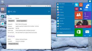Le menu démarrer de Windows 10, qui est resté sur «Pacific Time» lors du test.