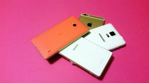 Nokia Lumia 930 vs Sony Xperia Z3 vs Samsung Galaxy Note 4 vs Apple iPhone 6 Plus.