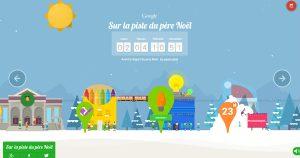 Le site de Google permettant de suivre le père Noël à travers le monde...