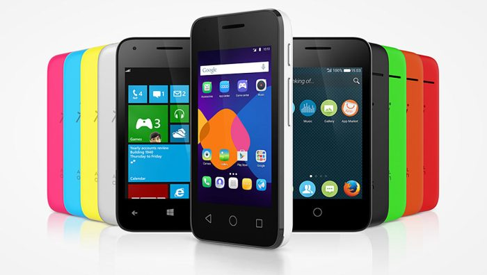 Alcatel OneTouch Pixi 3 pour trois OS.