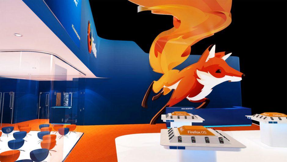 Mozilla Firefox lorsqu'il essayait de percer sur le mobile au MWC 2015.