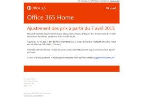 Office 365 Home bientôt moins cher en Suisse.