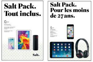 Les nouveaux Salt. Pack.