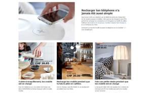 Recharge sans fil: le programme complet d'Ikea.