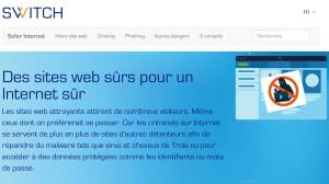 Safer Internet de Switch: pour des sites en .ch plus sûrs.
