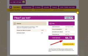 Le gigabit internet pour 65 francs par mois.
