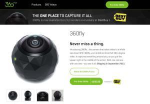 Avec 360 Fly, tournez des vidéo hémisphériques.