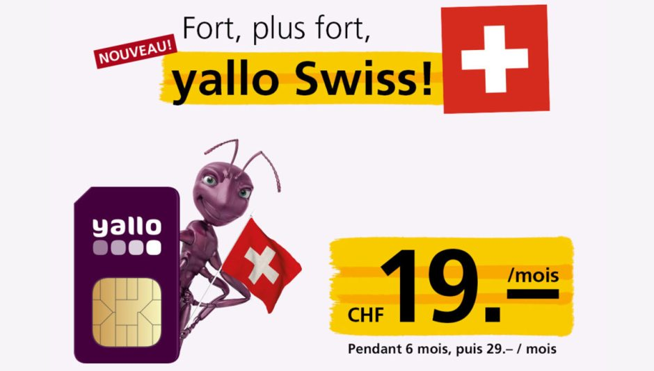 Yallo Swiss par Sunrise.