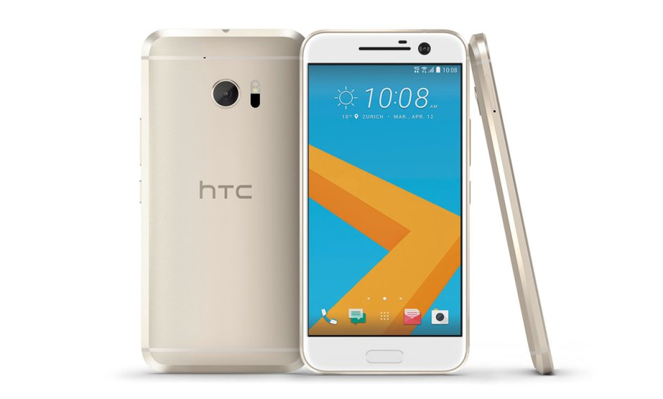 "Le HTC 10 ""or topaze""."