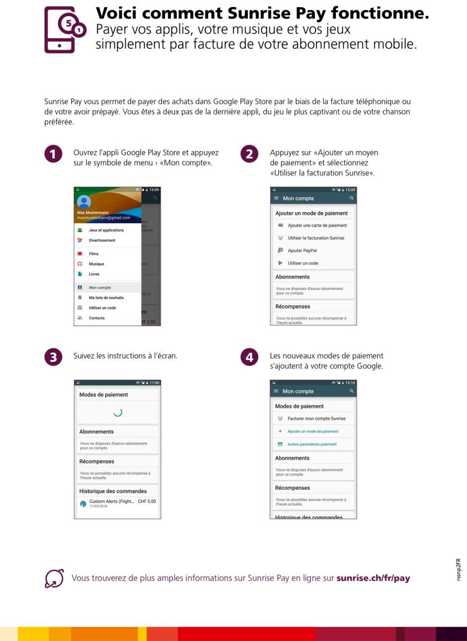 Sunrise Pay pour acheter décontracté dan Google Play.