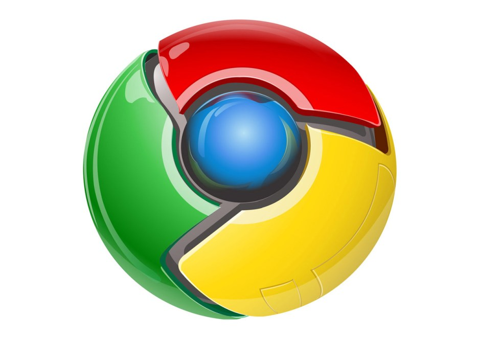 Le logo original de Google Chrome.