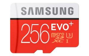 Samsung micro-SD EVO Plus 256 Go.
