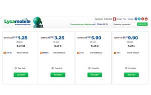 Surfez pas cher avec Lycamobile sur le réseau de Swisscom.