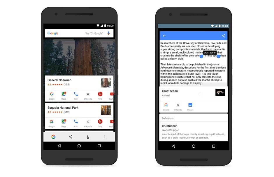Google on Tap plus puissant sur Android M.