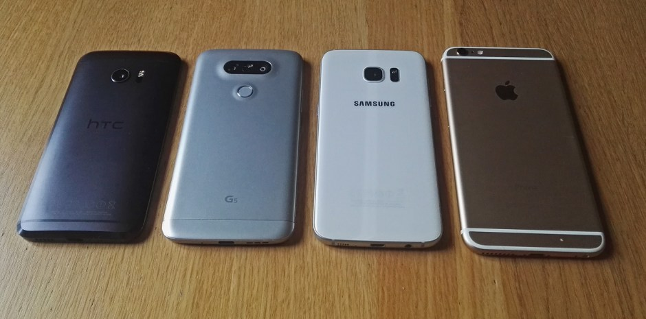 HTC 10 vs LG G5 vs Galaxy S7edge vs iPhone 6S Plus