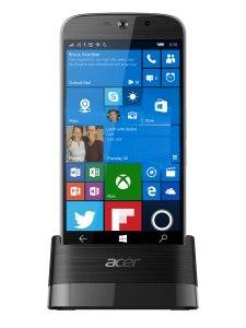 L'Acer Liquid Jade Primo et sa station d'accueil Continuum.