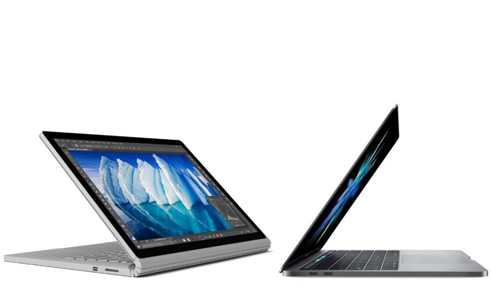 Microsoft Surface Book vs Apple MacBook Pro 2016.